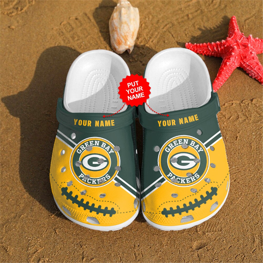 Green Bay Packers Personalized Custom For Nfl Fans Crocs Clog Shoes