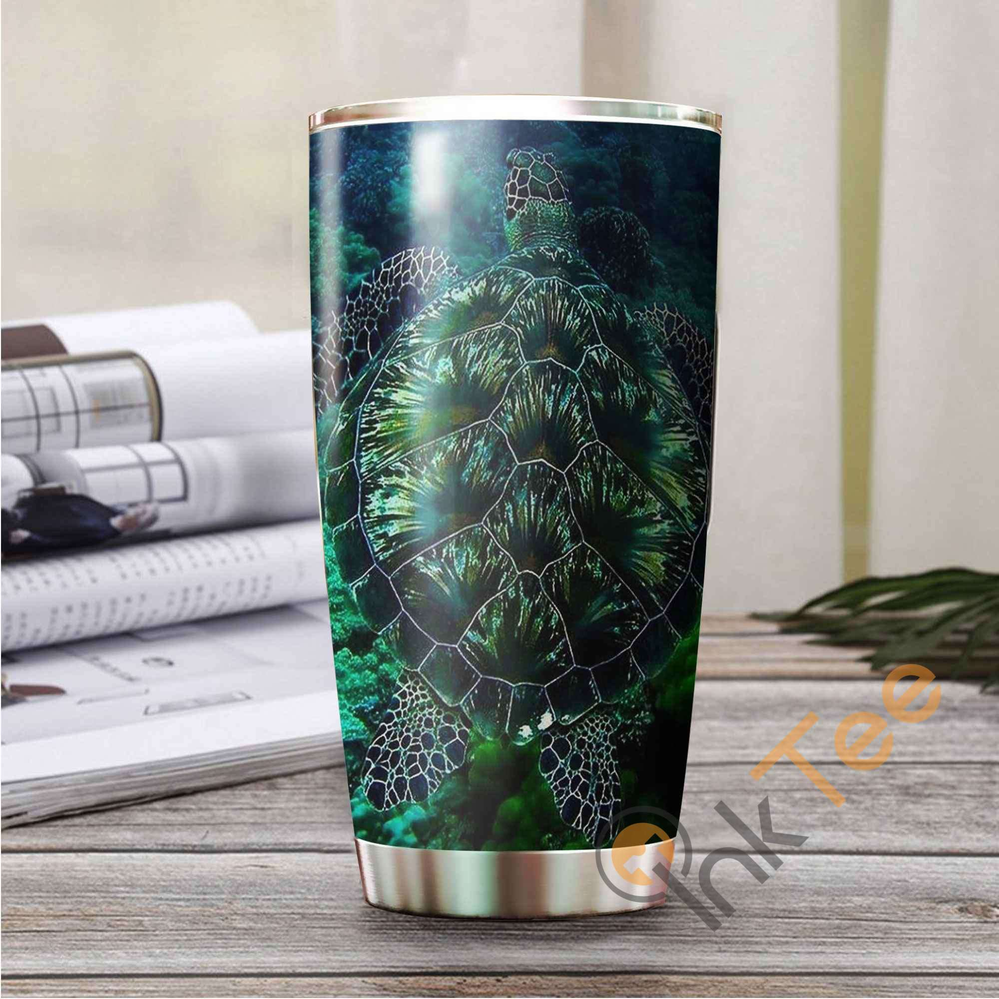 Green Sea Turtle Stainless Steel Tumbler