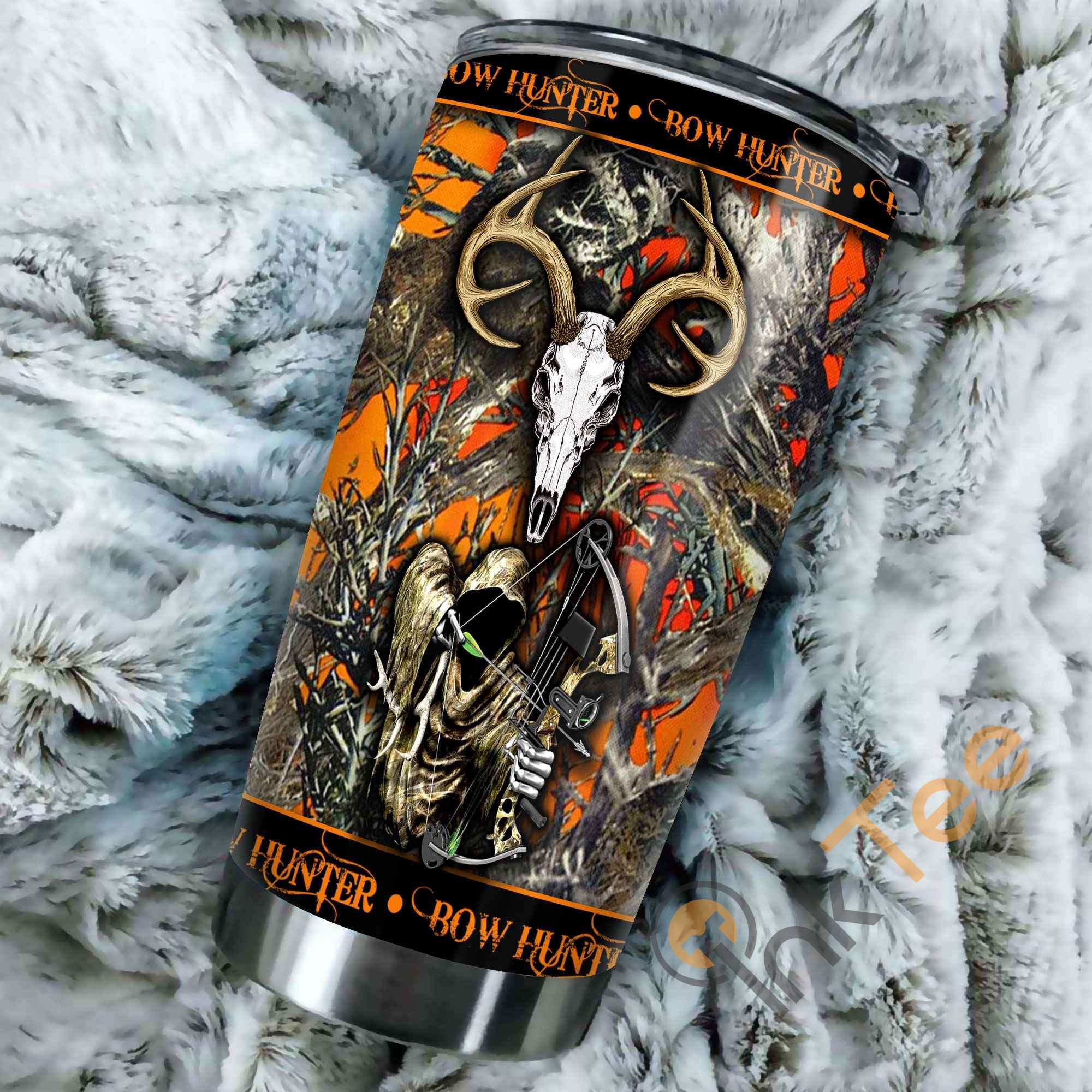 Grim Reaper Bow Hunter Camo Stainless Steel Tumbler