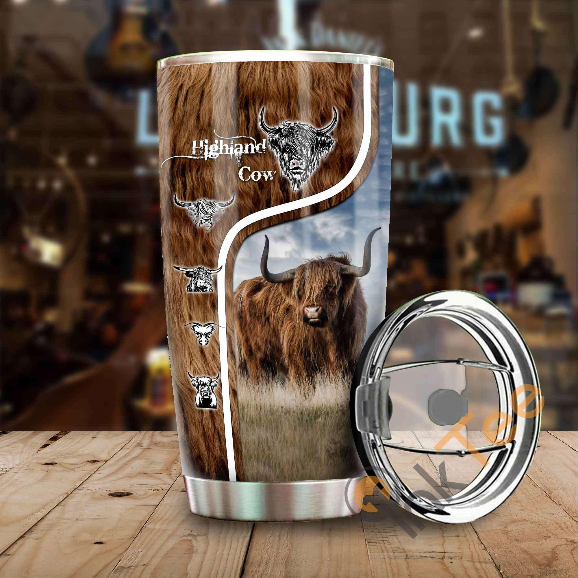Highland Cattle Stainless Steel Tumbler