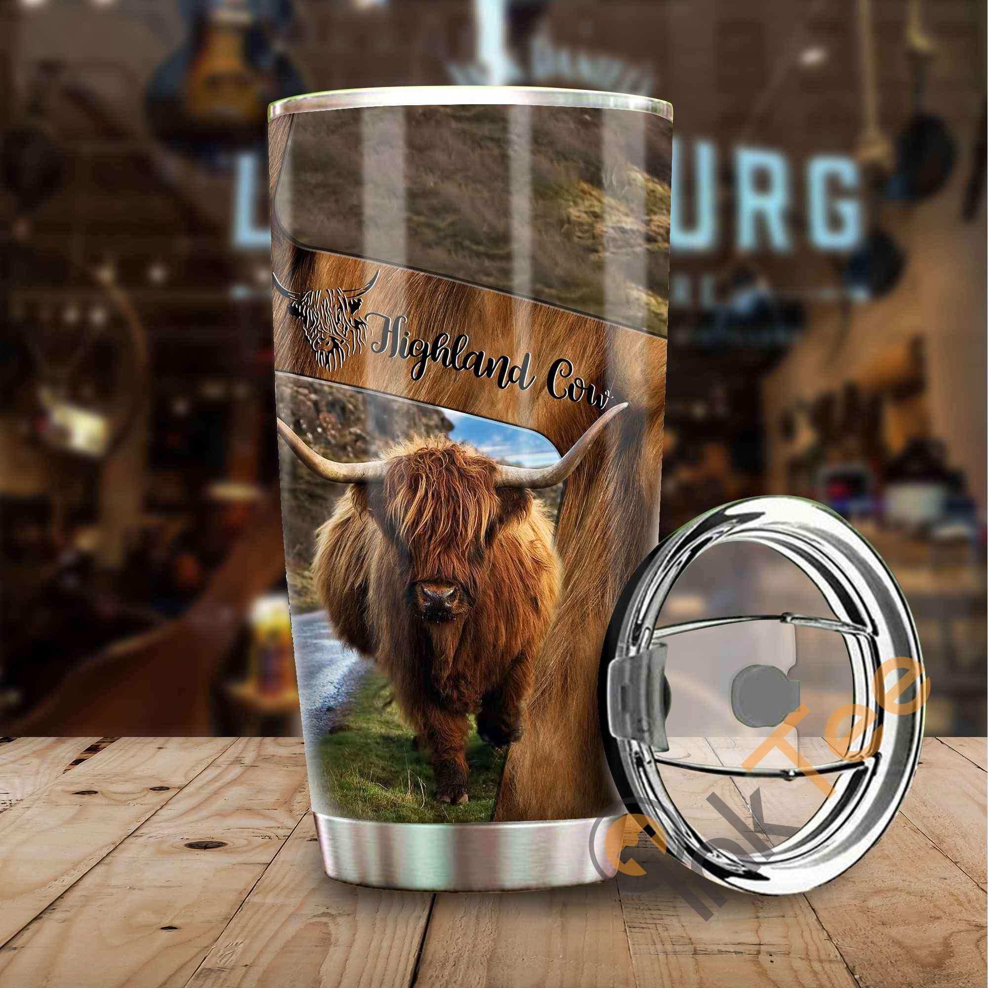 Highland Cow Amazon Best Seller Sku 3062 Stainless Steel Tumbler