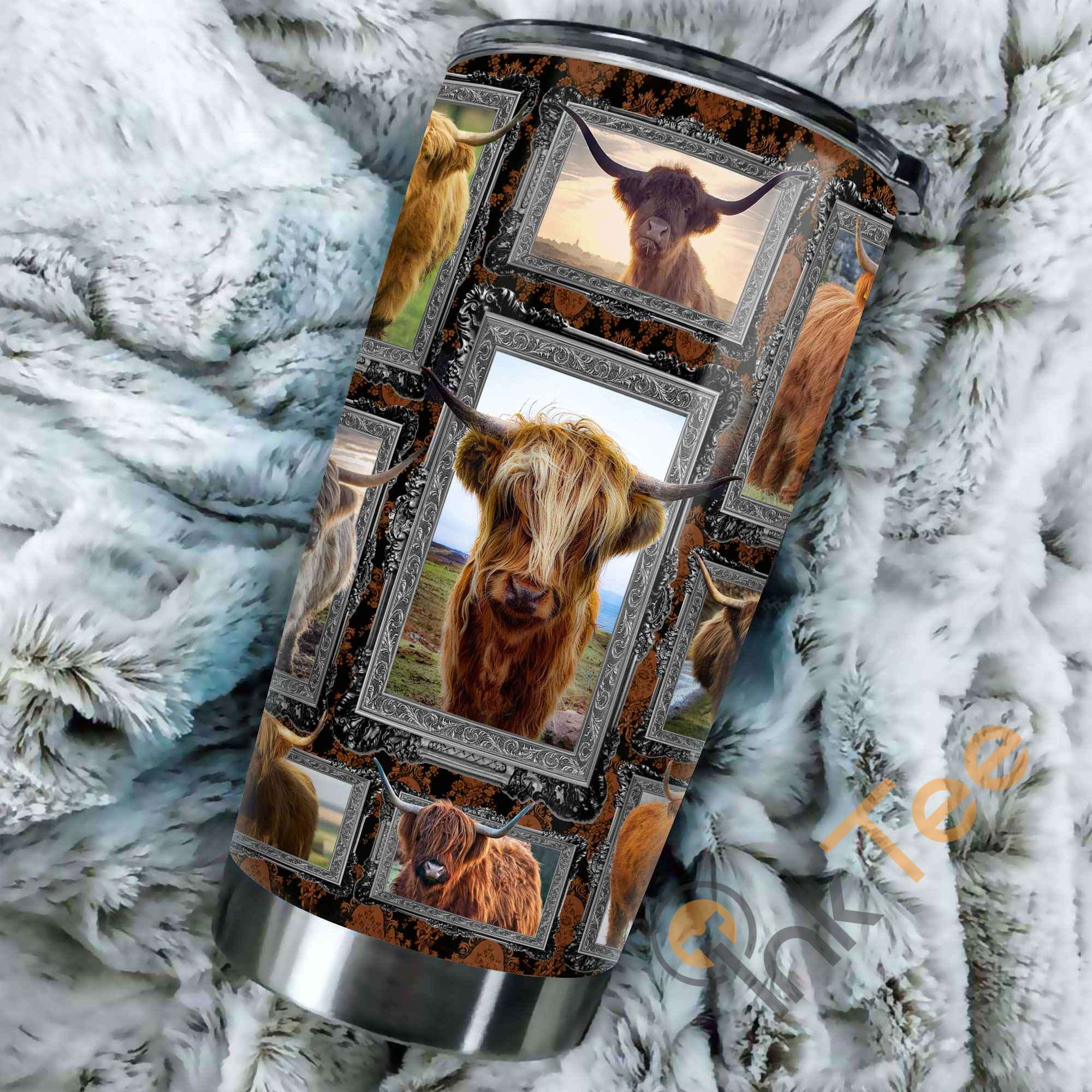 Highland Cows Stainless Steel Tumbler