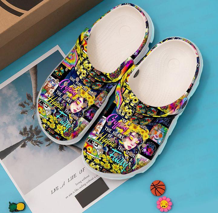 Hippie Girl Crocs Clog Shoes
