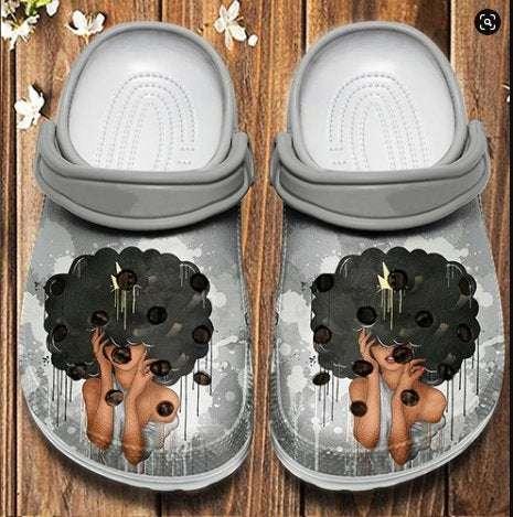 Hippie Girl Sneaker Crocs Clog Shoes
