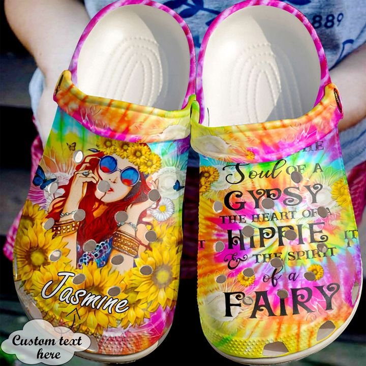 Hippie Personalized Soul Of A Gypsy Crocs Clog Shoes