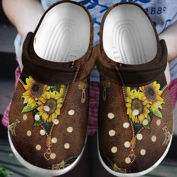 Hippie Sunflower Lover Crocs Clog Shoes
