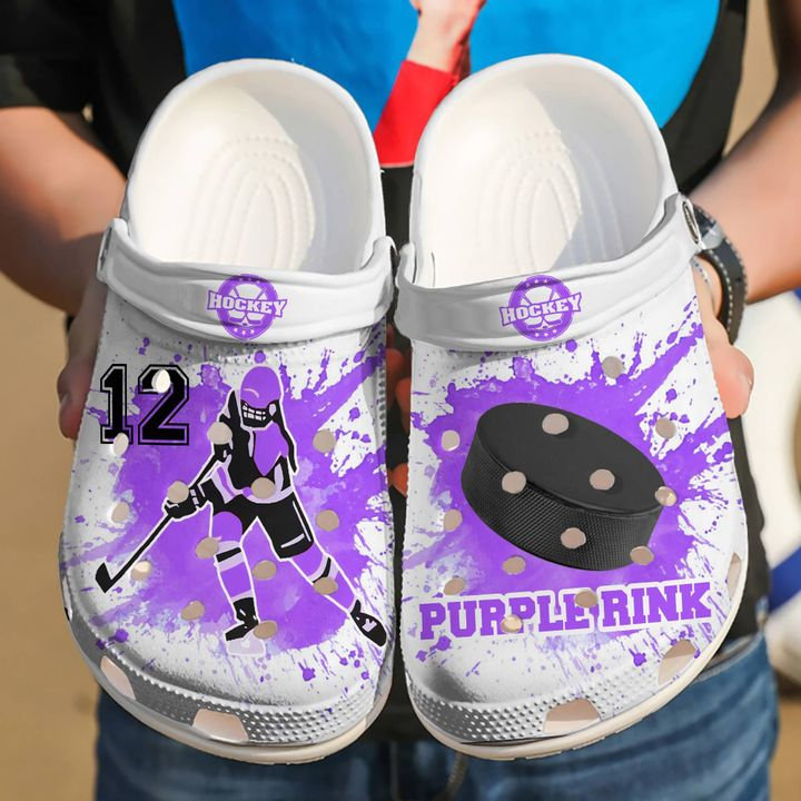 Hockey Personalized Girl Crocs Clog Shoes