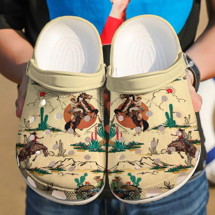 Horse Cowboy Crocs Clog Shoes