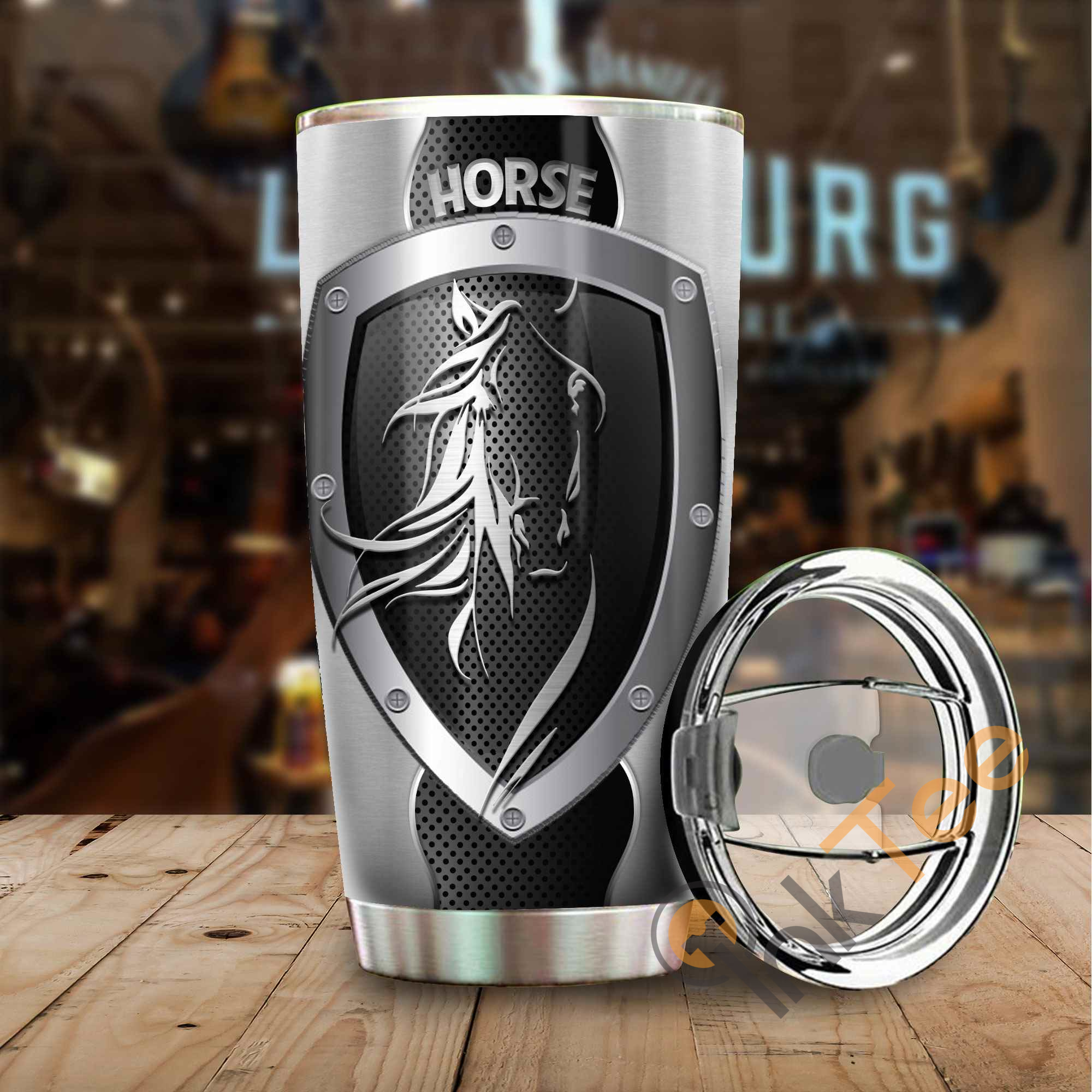 Horse Metal Stainless Steel Tumbler
