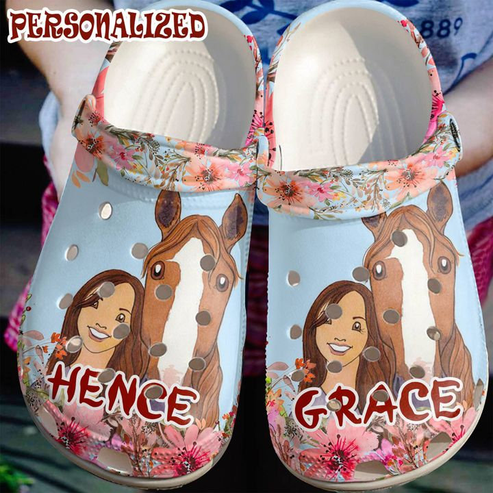 Horse Personalized Cowgirl And Her Crocs Clog Shoes