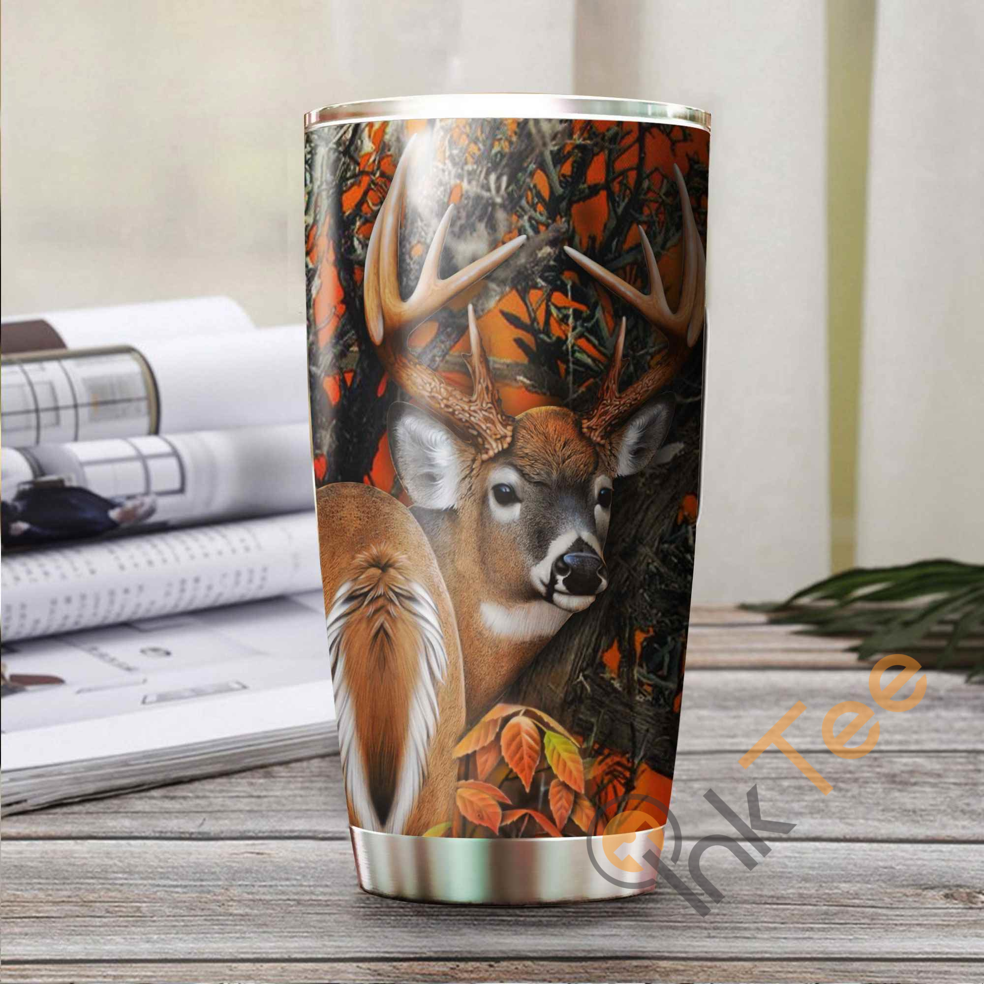 Hunting Deer Amazon Best Seller Sku 2626 Stainless Steel Tumbler