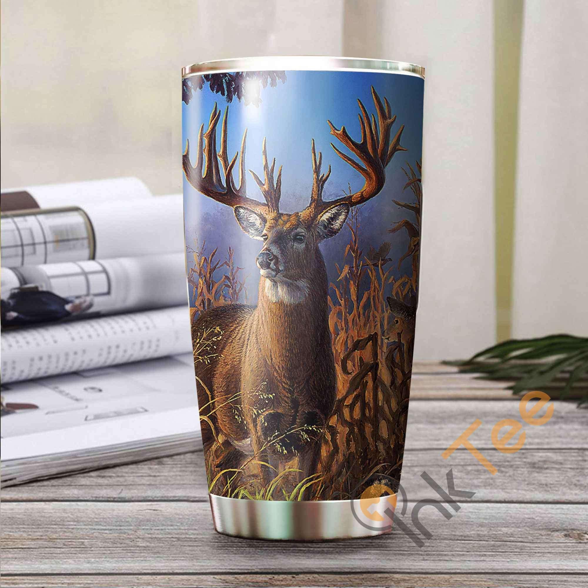 Hunting Deer Amazon Best Seller Sku 3108 Stainless Steel Tumbler