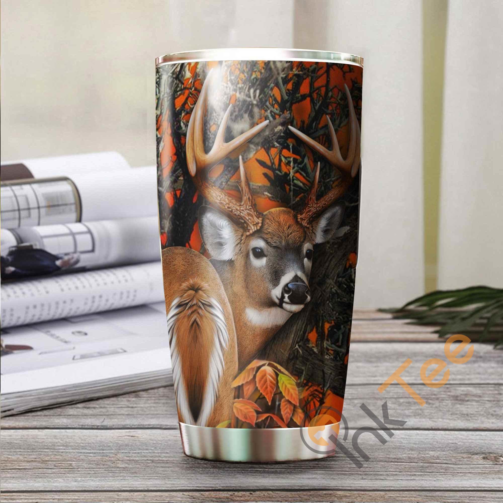 Hunting Deer Stainless Steel Tumbler