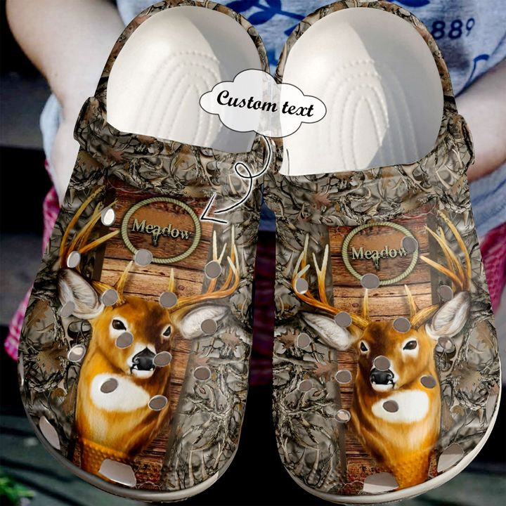 Hunting Personalized Deer Crocs Clog Shoes