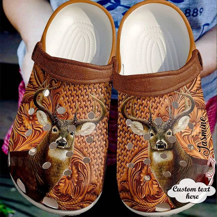 Hunting Personalized Whitetail Crocs Clog Shoes