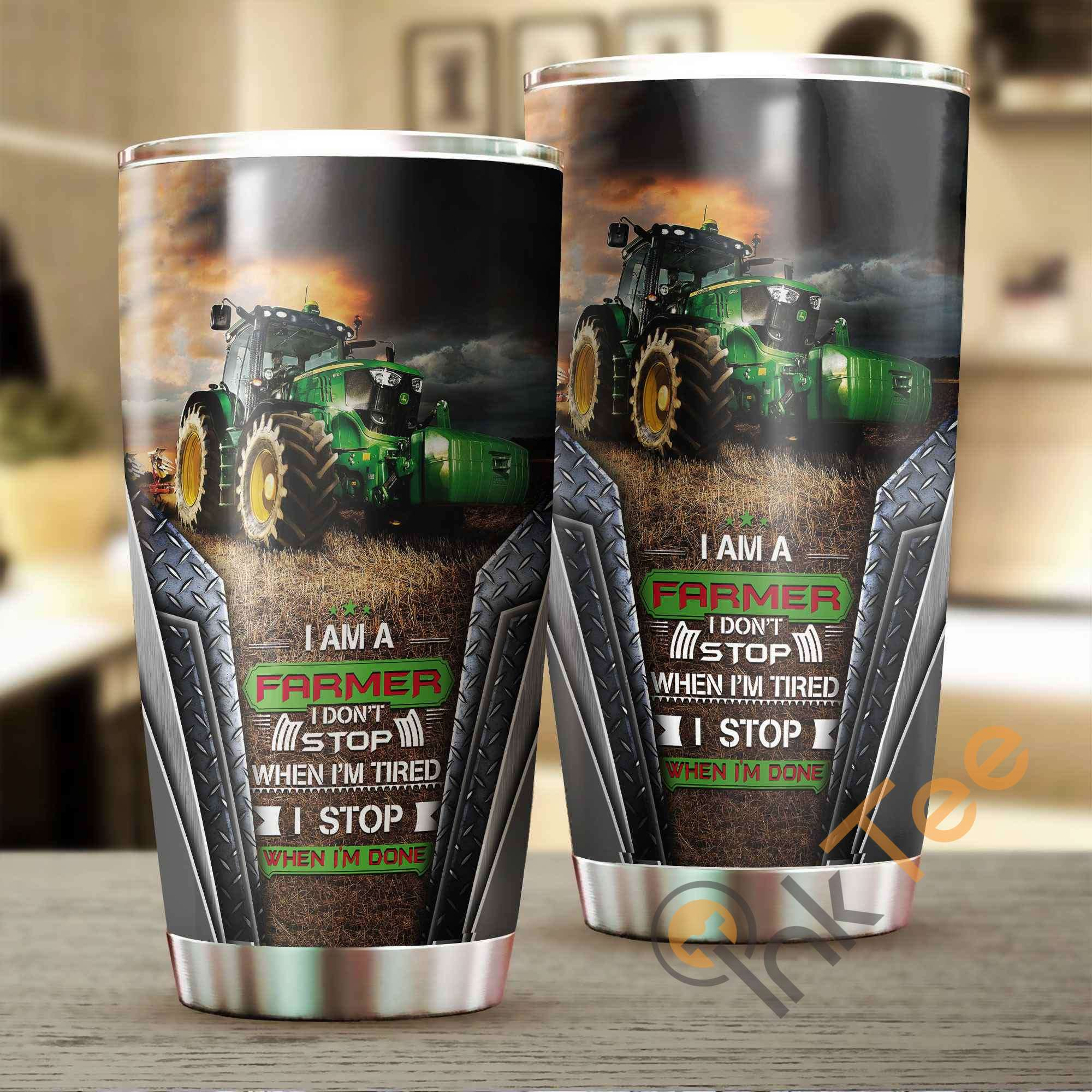 I Am A Farmer Amazon Best Seller Sku 3152 Stainless Steel Tumbler