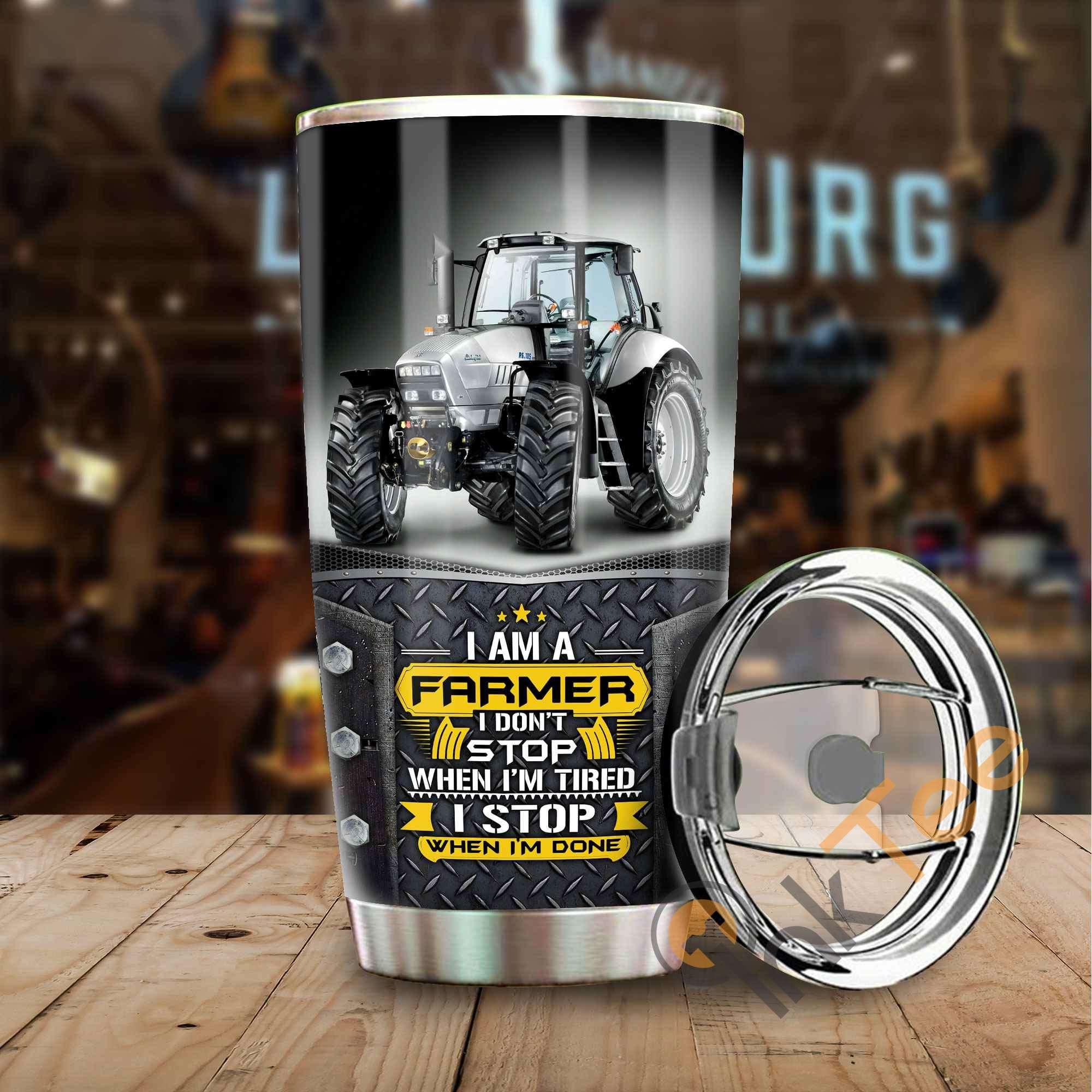 I Am A Farmer Amazon Best Seller Sku 3699 Stainless Steel Tumbler