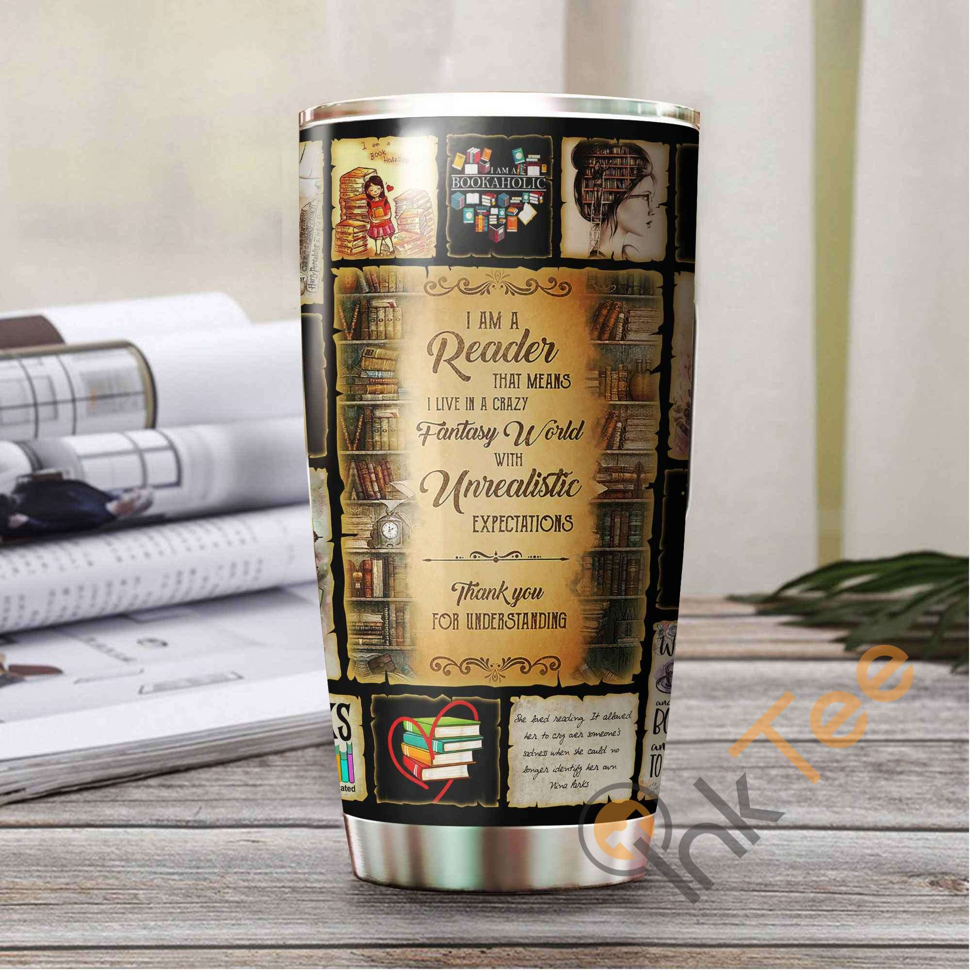 I'm A Reader Book Lover Amazon Best Seller Sku 3186 Stainless Steel Tumbler