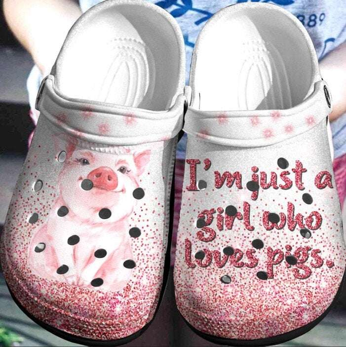 I'm Just A Girl Who Loves Pigs Crocs Clog Shoes