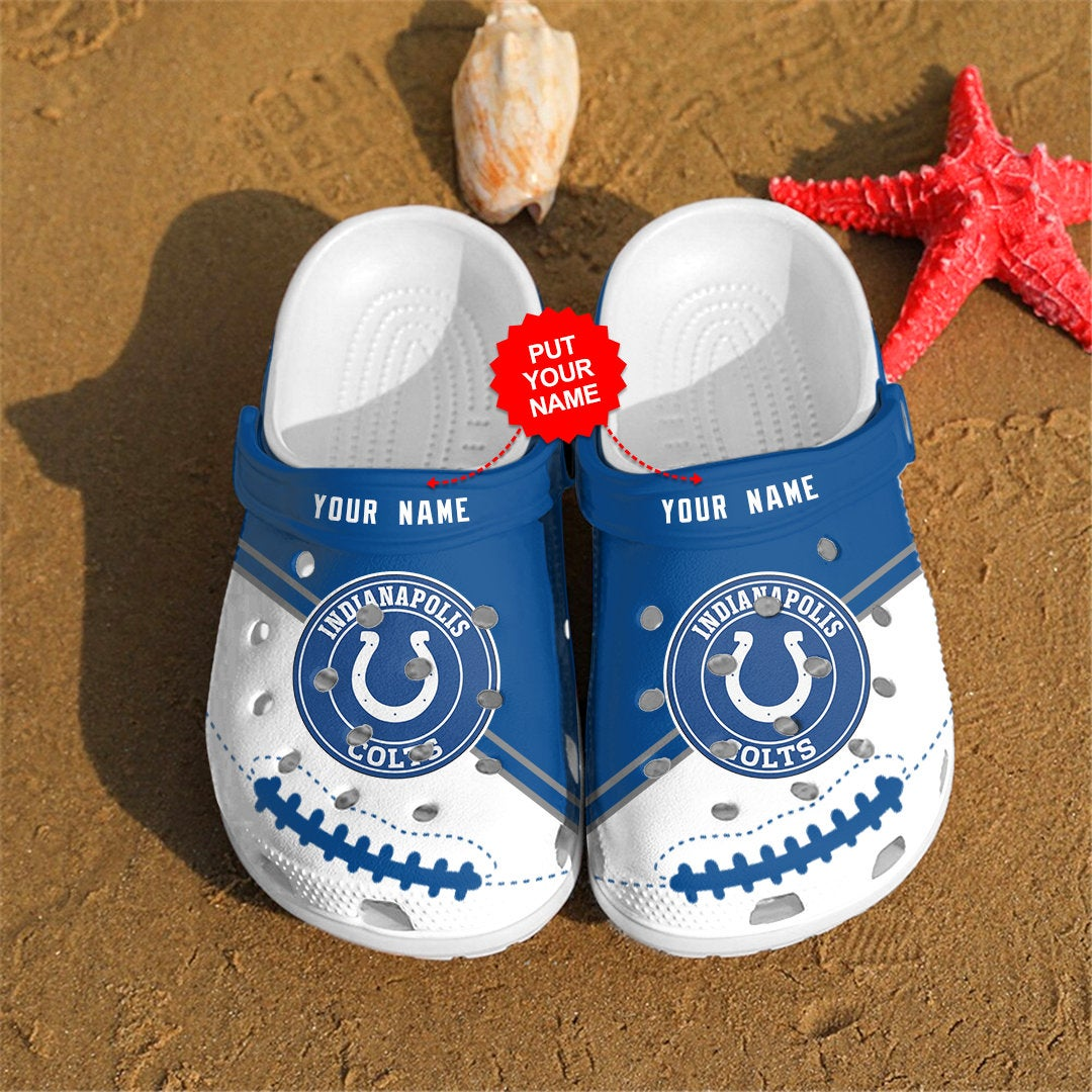 Indianapolis Colts Personalized Custom For Nfl Fans Crocs Clog Shoes