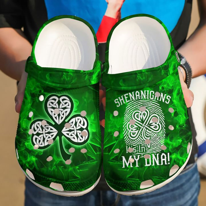 Irish Shamrock Crocs Clog Shoes