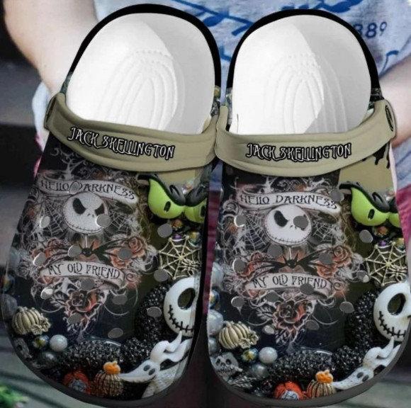 Jack Skellington Crocs Clog Shoes