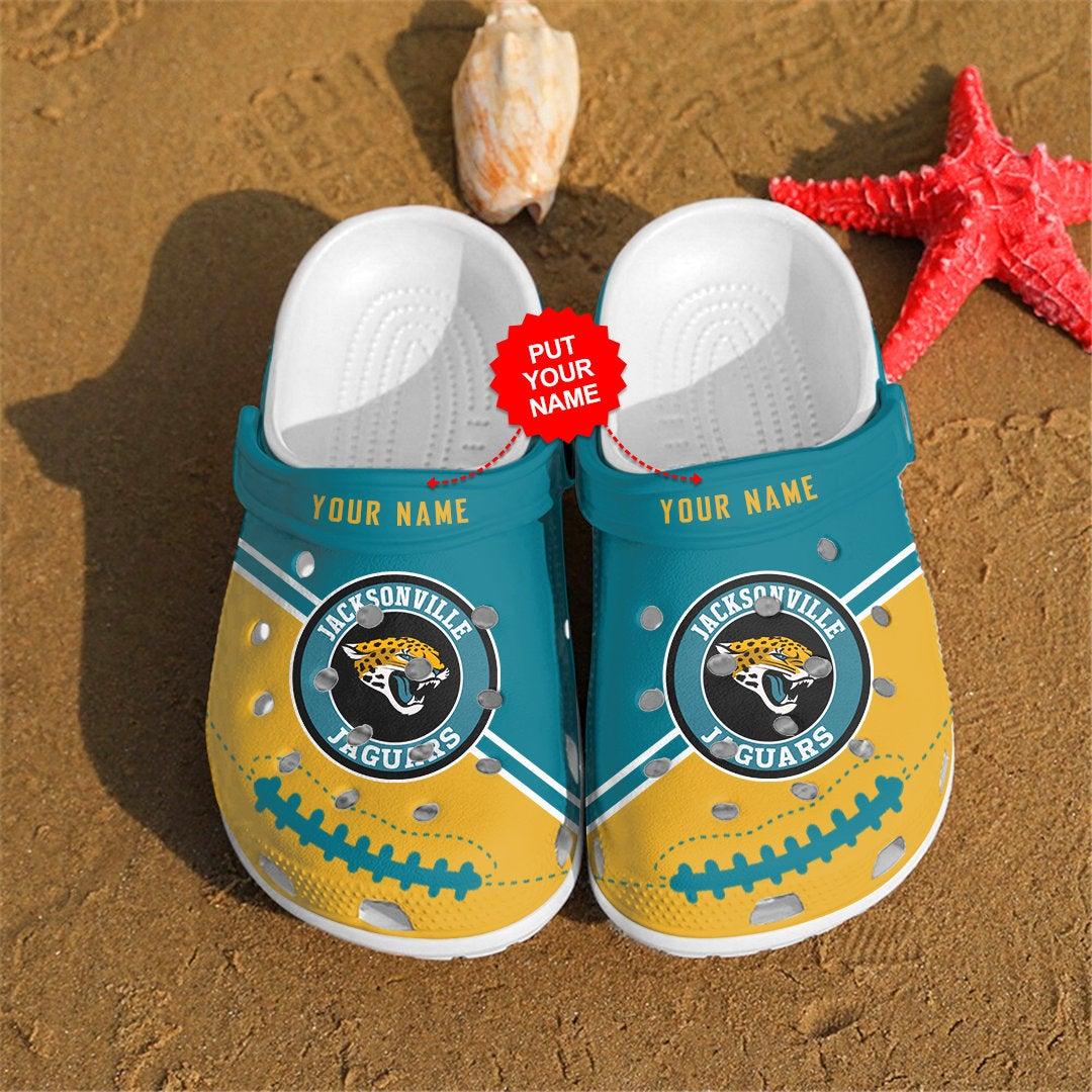 Jacksonville Jaguars Personalized Custom For Nfl Fans Crocs Clog Shoes