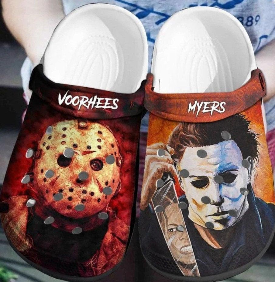 Jason Voorhees - Michael Myers Crocs Clog Shoes