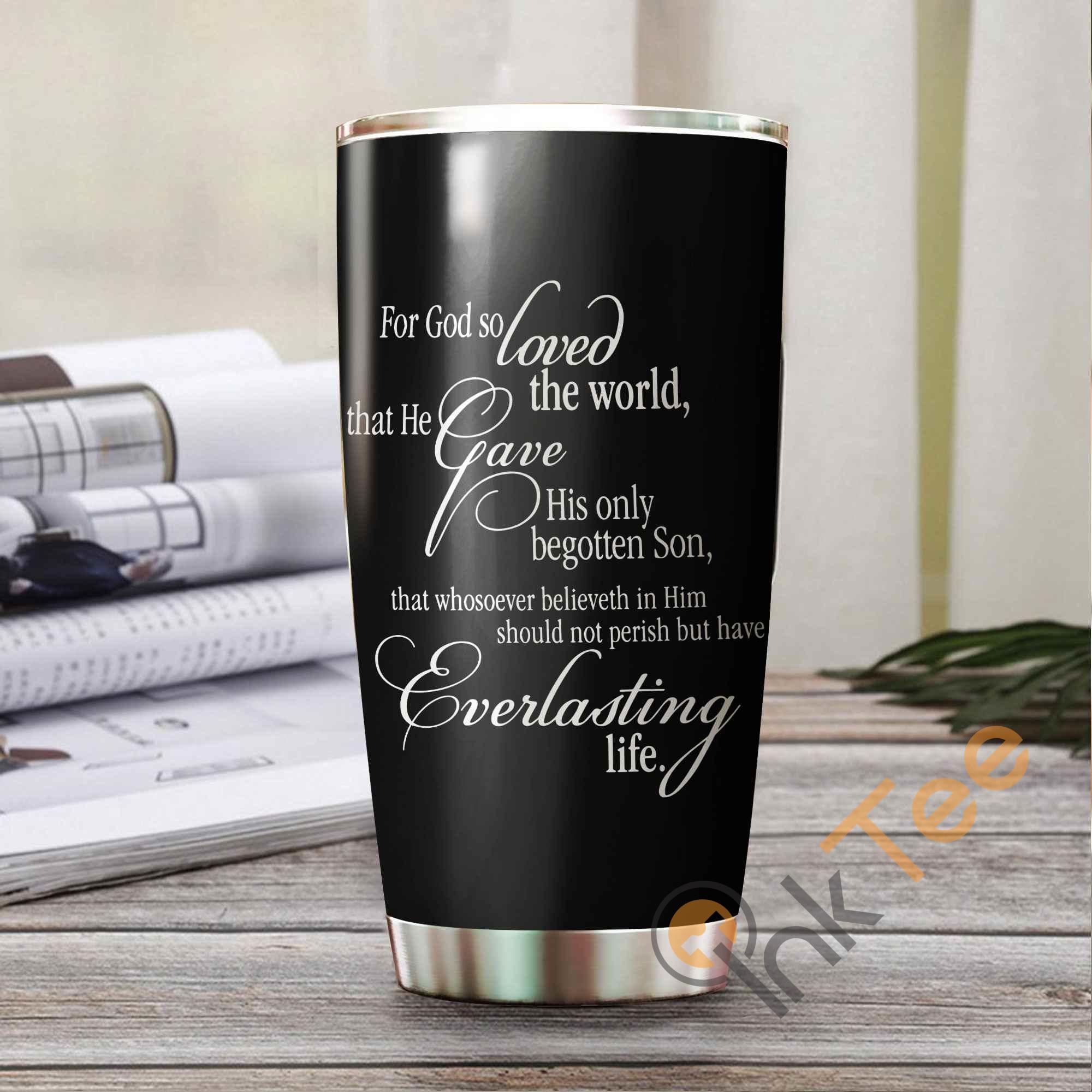 John 3:16 True Love Amazon Best Seller Sku 3324 Stainless Steel Tumbler