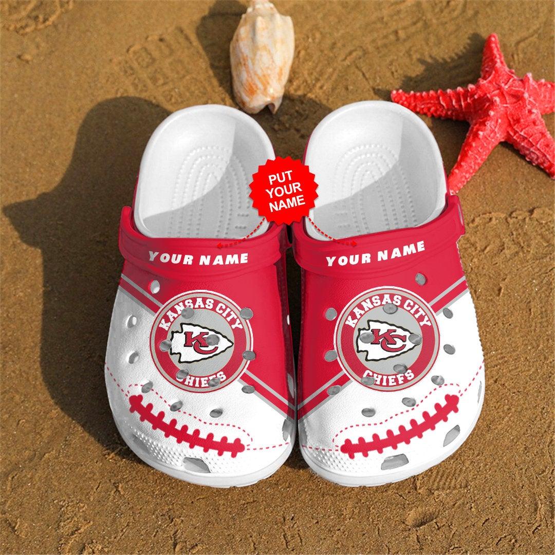 Kansas City Chiefs Personalized Custom For Nfl Fans Crocs Clog Shoes