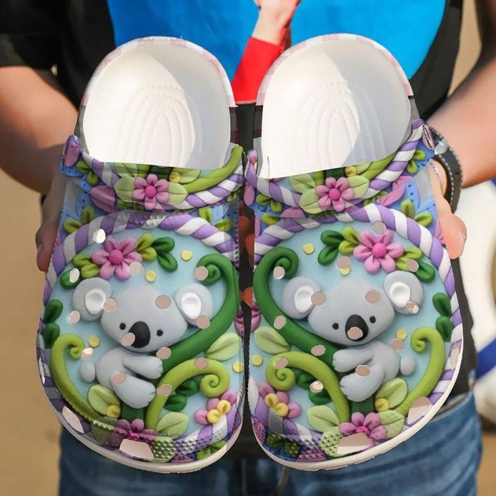 Koala Heart Crocs Clog Shoes