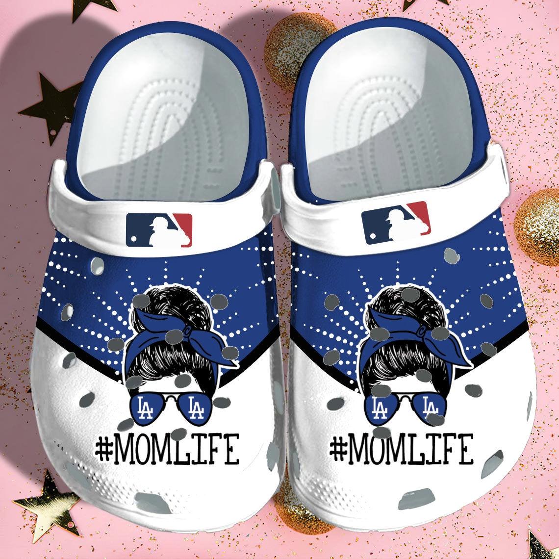 La Dodgers Mom Life Crocs Clog Shoes