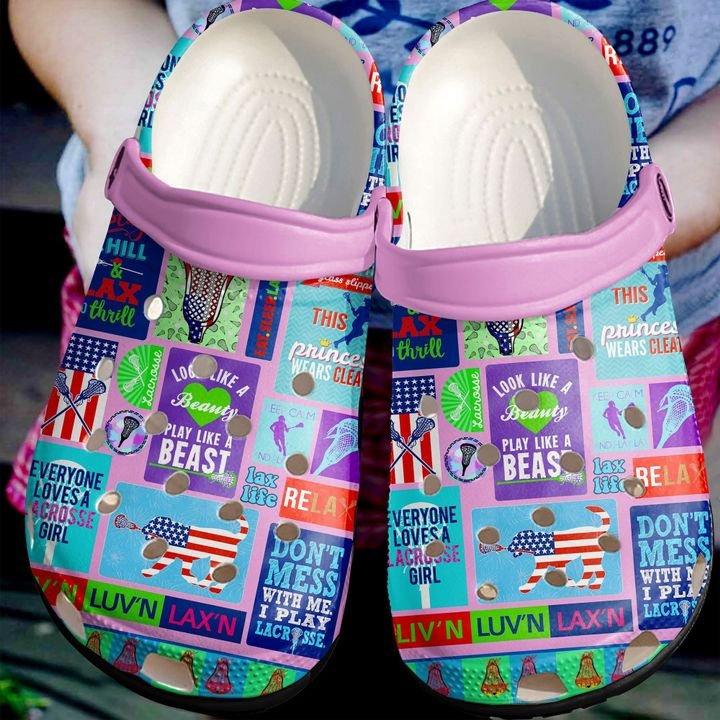 Lacrosse Girl Crocs Clog Shoes