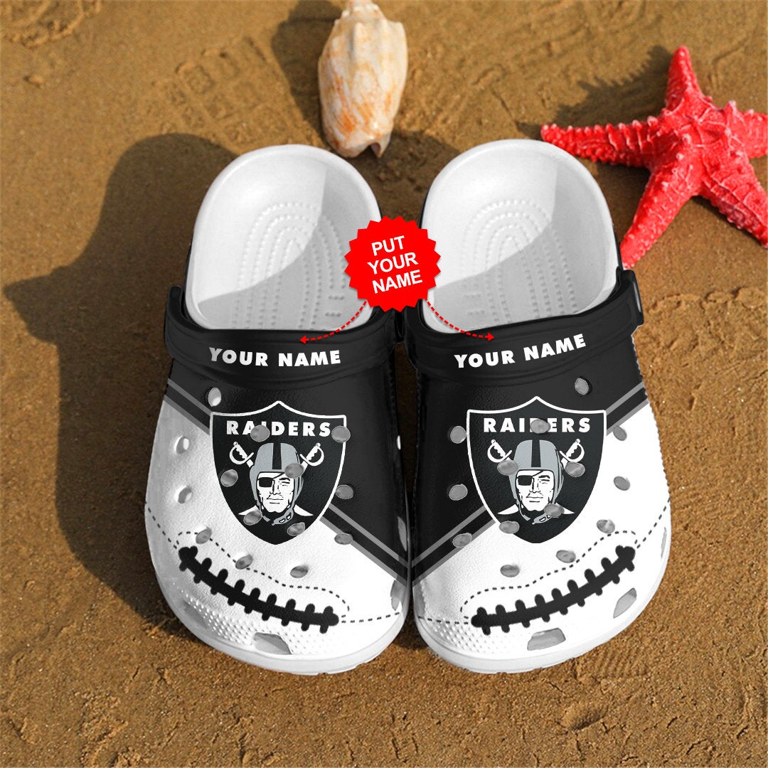 Las Vegas Raiders Personalized Custom For Nfl Fans Crocs Clog Shoes