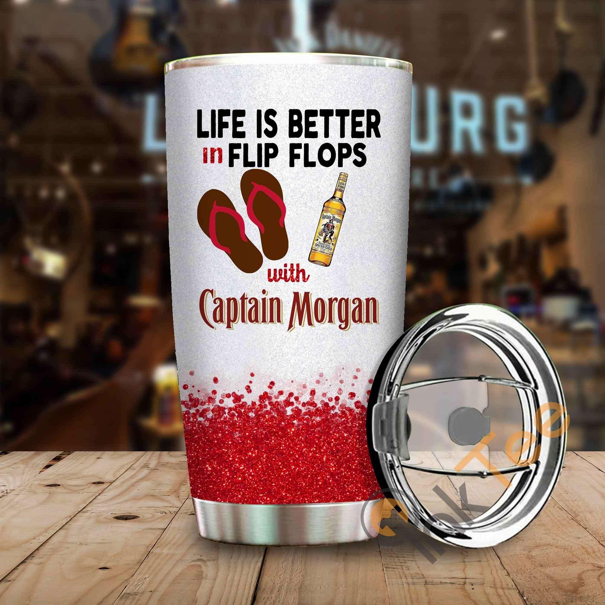 Life Is Better In Flip Flops With Captain Morgan Amazon Best Seller Sku 3900 Stainless Steel Tumbler