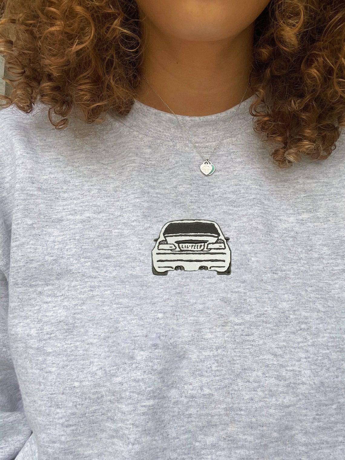 Lil Peep Beamer Boy Car Embroidered Swoosh Sweatshirt/t-shirt/hoodie Embroidery