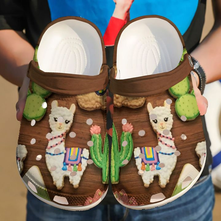 Llama Cookie Crocs Clog Shoes