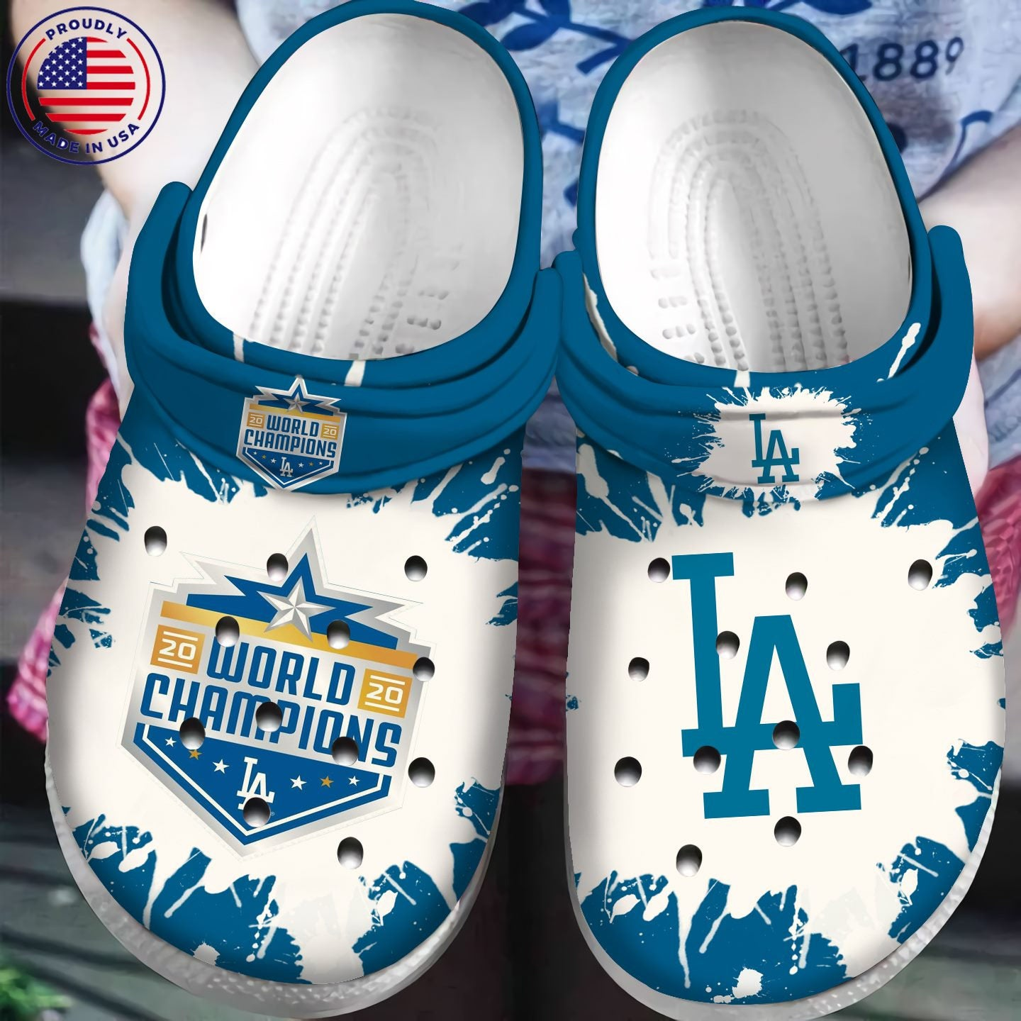 Los Angles Dodgers World Champions For Mlb Fans Crocs Clog Shoes