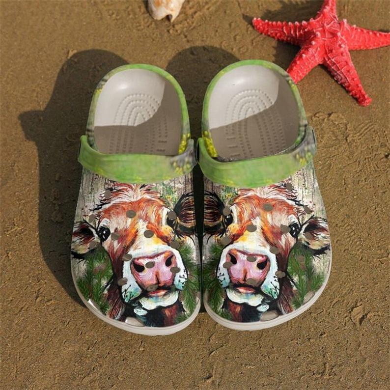 Love Cow Art Crocs Clog Shoes