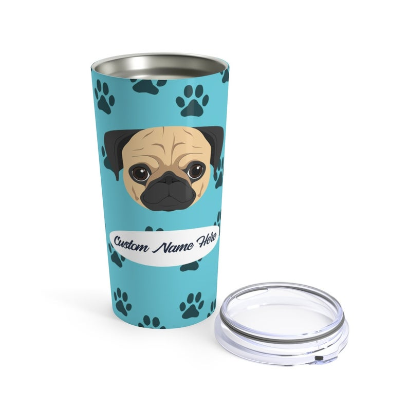 Love My Pug Stainless Steel Tumbler