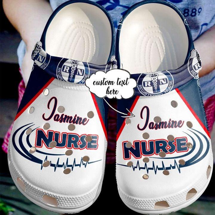 Love Nurse Rn Name Doctor Best Gift For Registered Ideas Symbol Crocs Clog Shoes