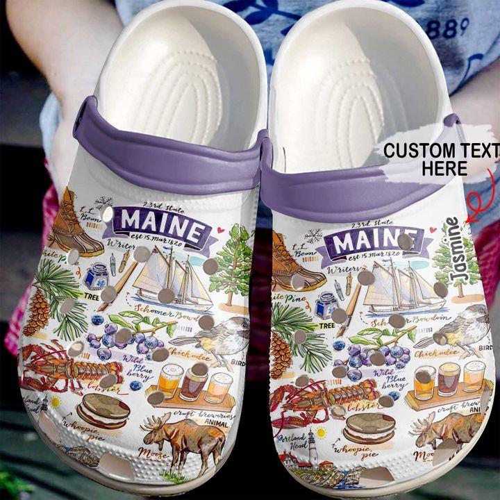 Maine Personalized Crocs Clog Shoes