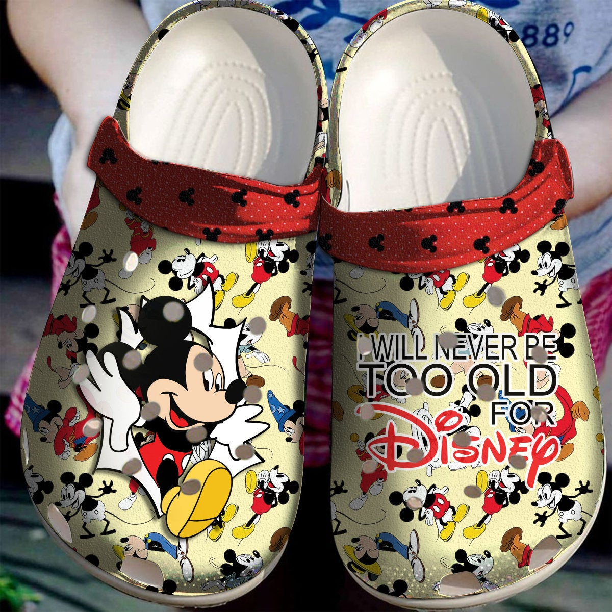Mickey Mouse I Will Never Be Old For Crocs Clog Shoes