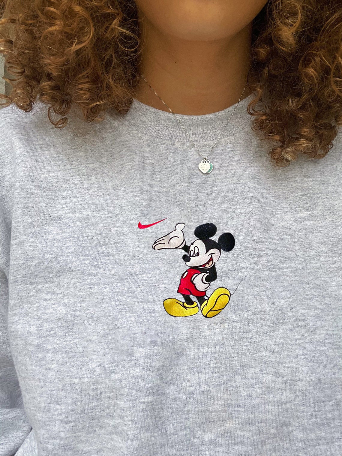 Mickey Mouse X Nike Embroidered Sweatshirt/t-shirt/hoodie Embroidery