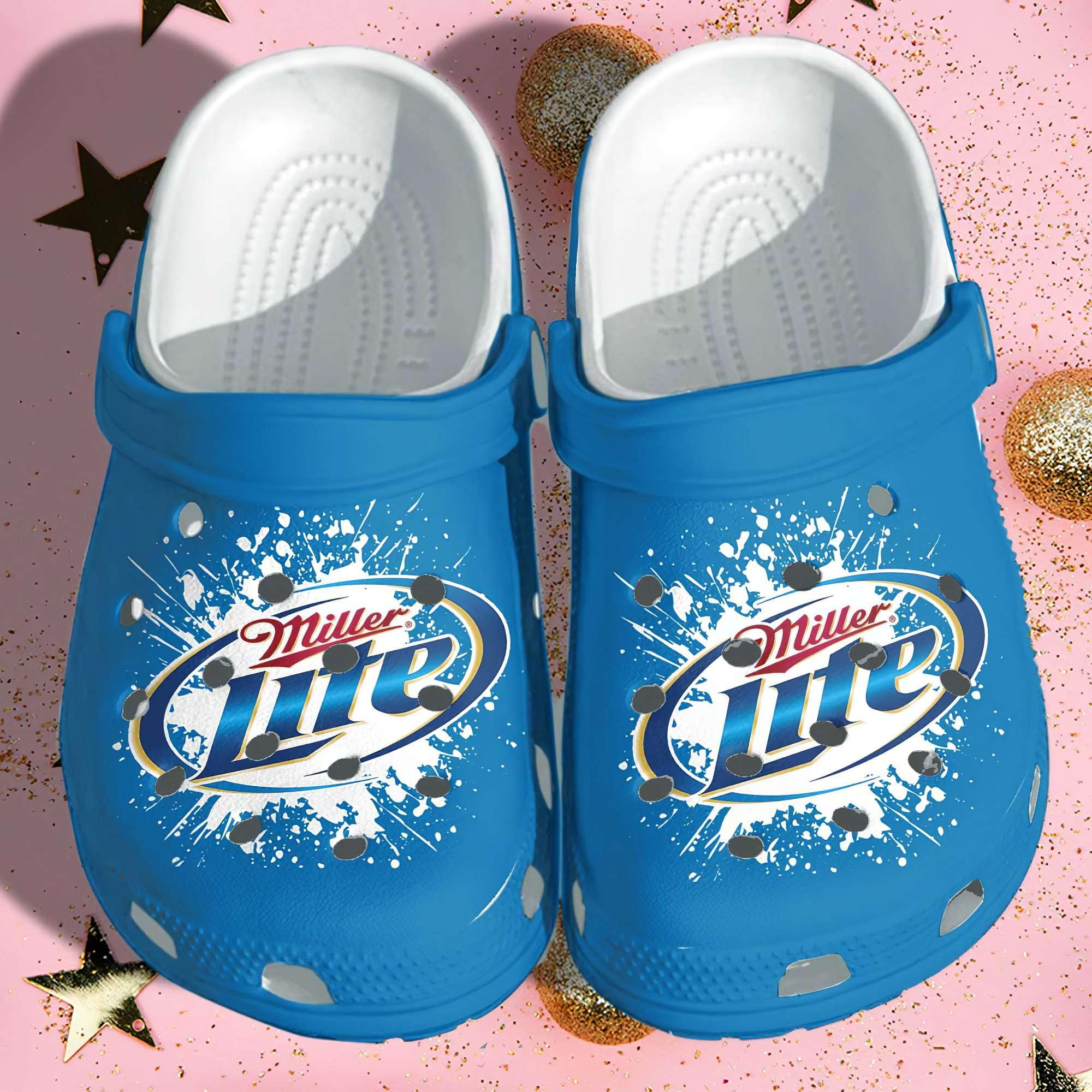 Miller Lite Funny Crocs Clog Shoes