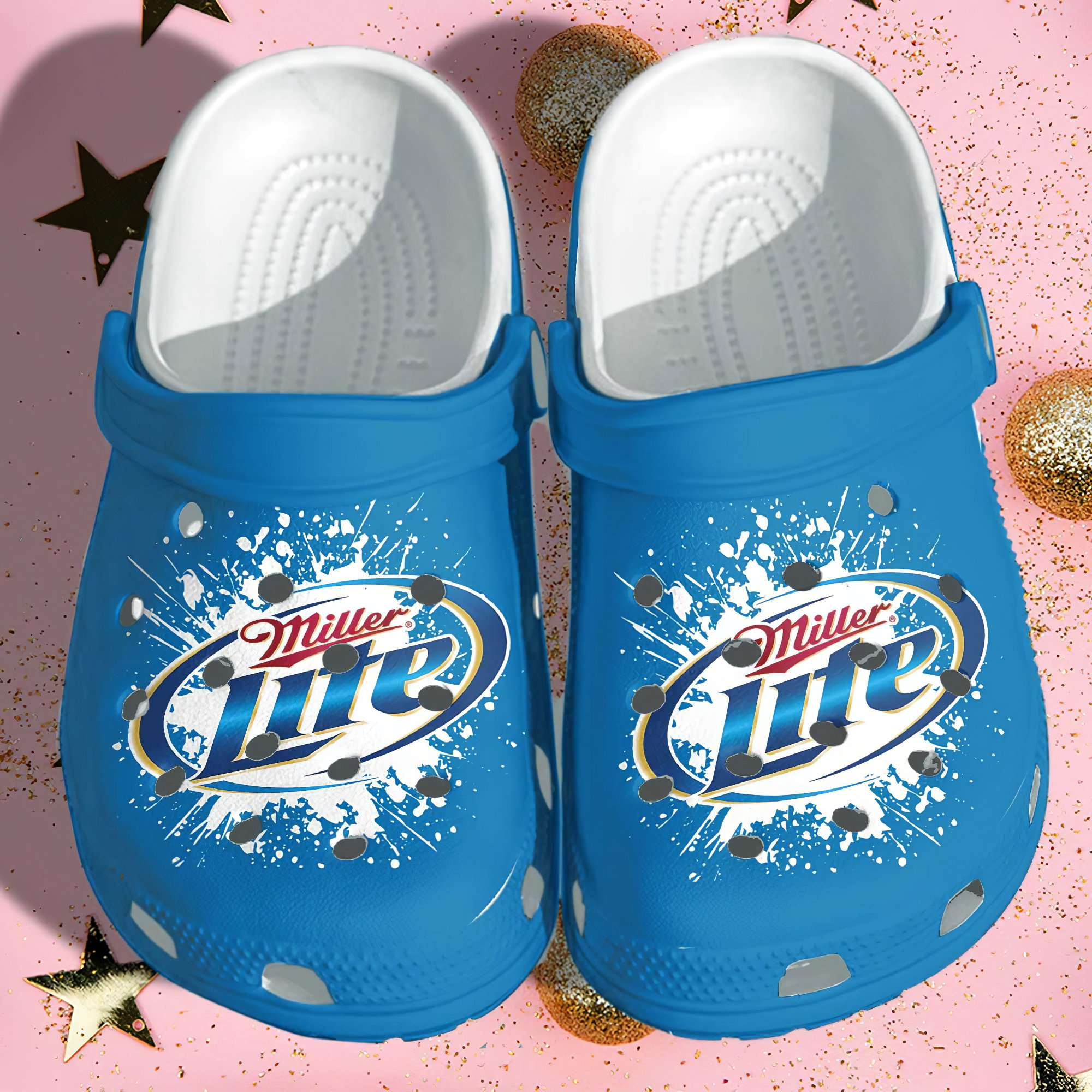 Miller Lite Funny Crocs Clog Shoes