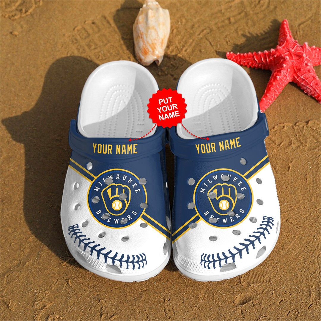 Milwaukee Brewers Personalized For Mlb Fans Crocs Clog Shoes