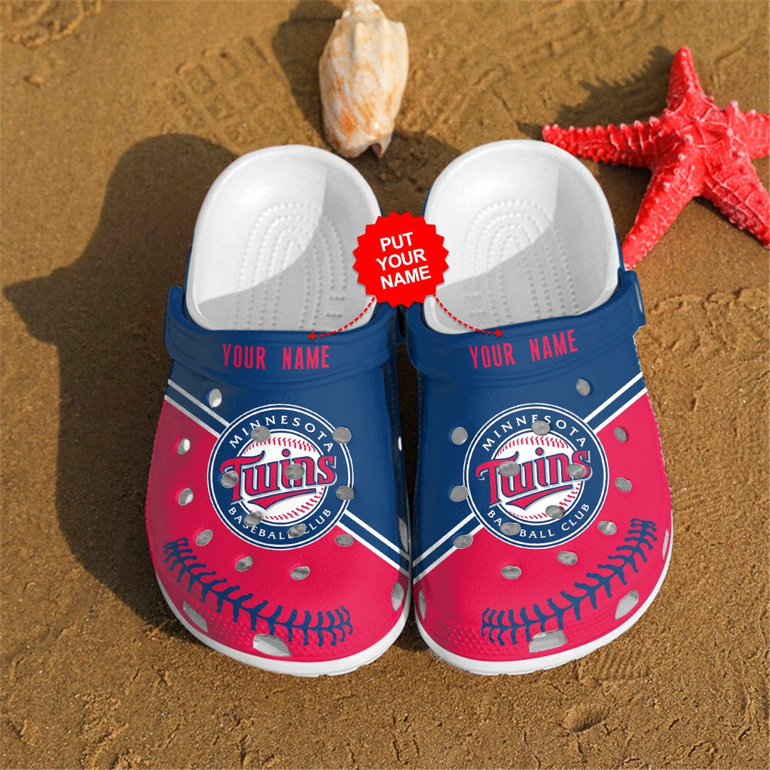 Minnesota Twins Personalized For Mlb Fans Crocs Clog Shoes