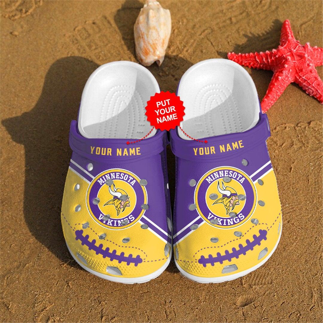Minnesota Vikings Personalized Custom For Nfl Fans Crocs Clog Shoes