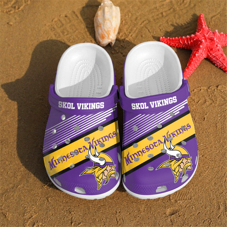 Minnesota Vikings Skol Vikings Custom For Nfl Fans Crocs Clog Shoes